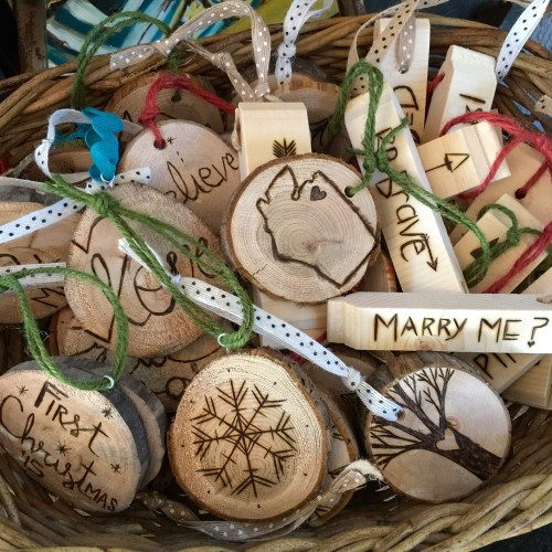 Sarah Jewett Art Wooden Ornaments