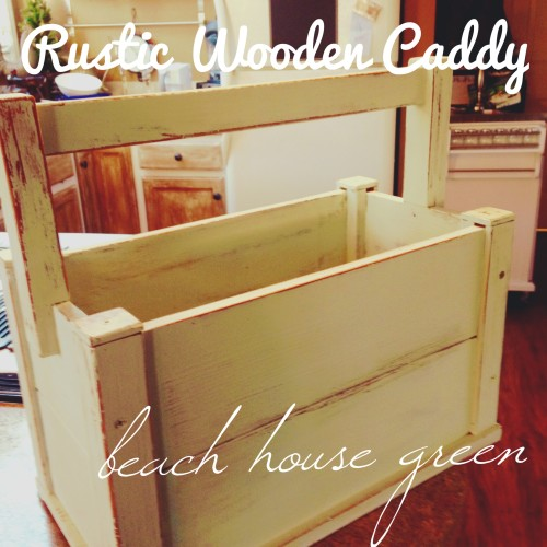 Rustic Wooden Caddy